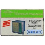 The Phonecard Shop: Landis & Gyr - Sigmagyr, dummy promotional card without code, 5 units
