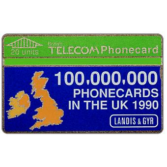 100,000,000 Phonecards in the UK, 20 units