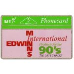 The Phonecard Shop: Great Britain, Edwin Minns pink, 5 units