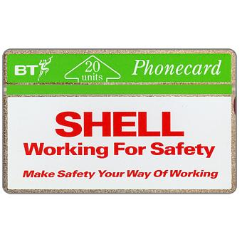 Phonecard for sale: Shell UK - Working for safety, 20 units