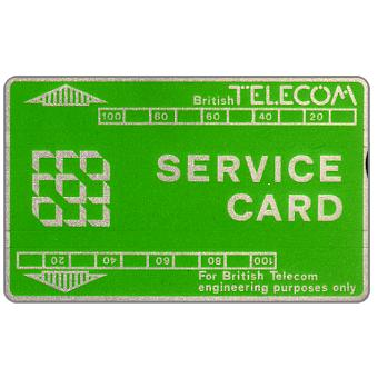 Phonecard for sale: Service card, green/silver, 200 units