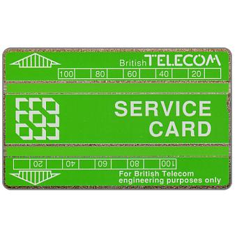 Service card, green bands, 200 units
