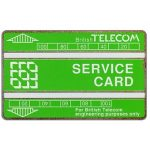 The Phonecard Shop: Great Britain, Service card, white bands, 200 units