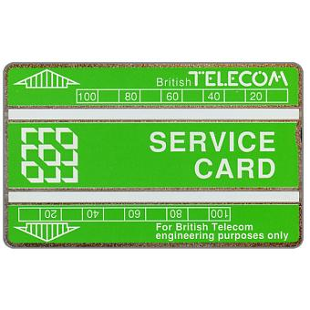 Service card, white bands, 200 units