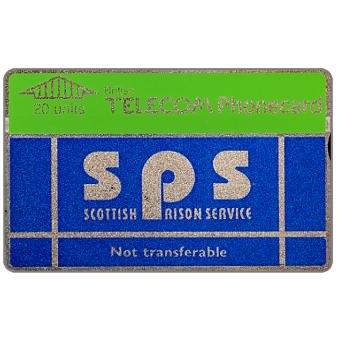 Phonecard for sale: Scottish Prison Service, 20 units