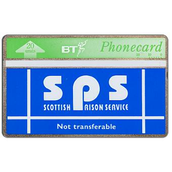Phonecard for sale: Scottish Prison Service, white band, 20 units