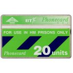 The Phonecard Shop: Great Britain, For use in HM Prisons only, white band, 20 units