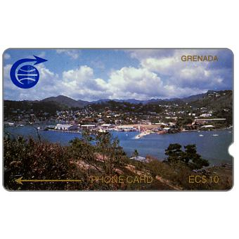 Phonecard for sale: First issue, St.Georges, 1CGRB, deep notch, EC$10