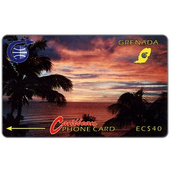 Phonecard for sale: Sunset, 3CGRB, EC$40