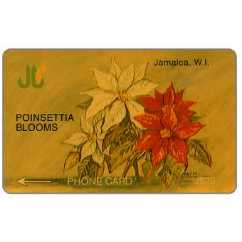 Phonecard for sale: Poinsettia Blooms, 2JAMA, J$20
