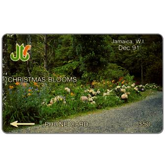 Phonecard for sale: Christmas Blooms, 5JAMB, J$50