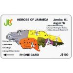 The Phonecard Shop: Heroes of Jamaica, 9JAMB, J$100