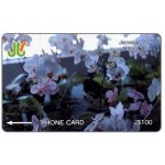 Phonecard for sale: White Orchids, 10JAMC, J$100