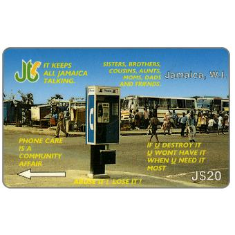 Phonecard for sale: Antivandalism, 12JAMA, J$20