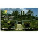 Phonecard for sale: Norman Manley monument, 14JAMC, J$20