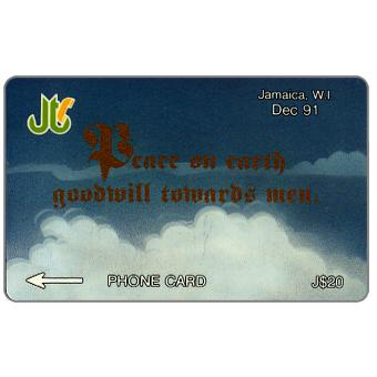 Phonecard for sale: Peace on Earth, 14JAME, J$20