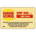 The Phonecard Shop: Burger King, 16JAMA, J$20