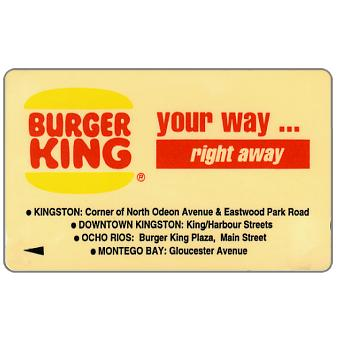 Phonecard for sale: Burger King, 16JAMA, J$20