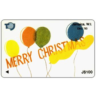 Phonecard for sale: Merry Christmas, 16JAMC, J$100