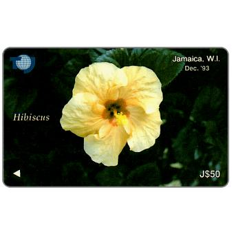 Phonecard for sale: Hibiscus, 16JAMD, J$50