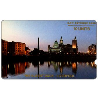 Phonecard for sale: Trial card, The Albert Dock, deep notch, 1JAMA, 10 units