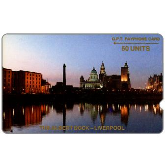 Phonecard for sale: Trial card, The Albert Dock, deep notch, 1JAMB, 50 units