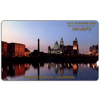Phonecard for sale: Trial card, The Albert Dock, deep notch, 1JAMC, 100 units