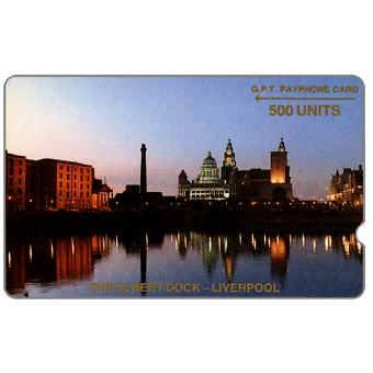 Phonecard for sale: Trial card, The Albert Dock, deep notch, 1JAMD, 500 units