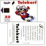 The Phonecard Shop: Norway, Ice-Hockey Mascot, 22 units
