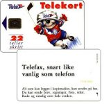 The Phonecard Shop: Norway, Ice-Hockey Mascot, chip SC-4, 22 units