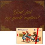 The Phonecard Shop: Christmas 1995, folder with a 22 units phonecard
