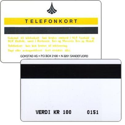 Phonecard for sale: Gokstad - First issue, 100 kr