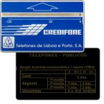 "The Phonecard Shop: Portugal, TLP - Definitive, ""periodo"", code 101A, 120 units"