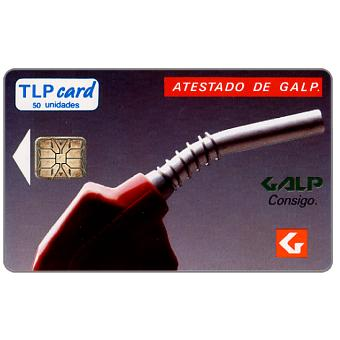 "Phonecard for sale: TLP - Galp, ""Atestado…"", 50 units"