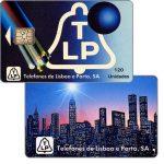 The Phonecard Shop: Portugal, TLP - Fibre optics, skyline of New York, 120 units