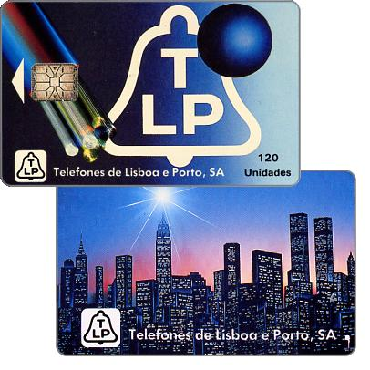 Phonecard for sale: TLP - Fibre optics, skyline of New York, 120 units