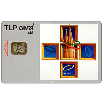 Phonecard for sale: TLP - Painting by Antonio Pimentel, Jogos Olimpicos Barcelona, 120 units