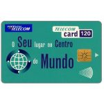Phonecard for sale: Portugal Telecom - O seu lugar no centro do mundo, 120 units