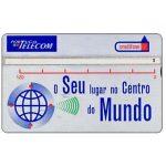 The Phonecard Shop: Portugal, Portugal Telecom - O seu lugar no centro do mundo, 120 units