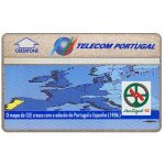 The Phonecard Shop: Telecom Portugal - Portugal 92, Map of CEE in 1986, 40 units