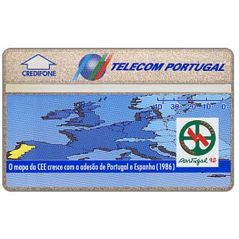 Phonecard for sale: Telecom Portugal - Portugal 92, Map of CEE in 1986, 40 units