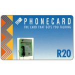 The Phonecard Shop: South Africa, Telkom - Payphone, blue, R20