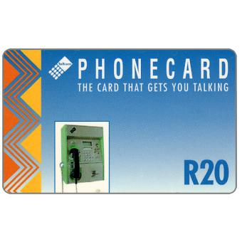 Phonecard for sale: Telkom - Payphone, blue, R20