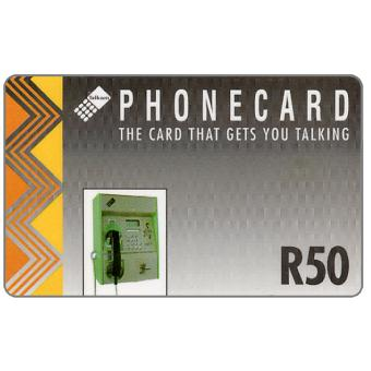Phonecard for sale: Telkom - Payphone, grey, R50