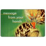Phonecard for sale: Telkom - Musical Instruments, second issue, Message from your hands 3, no expiry date, R10