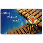 The Phonecard Shop: South Africa, Telkom - Musical Instruments, second issue, Echo of your world, expiry date 2000/01, R15