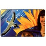 Phonecard for sale: Telkom - Spirit of Africa, Puzzle 1/4, blue, expiry date 2000/03, R15
