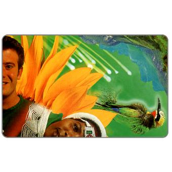 Phonecard for sale: Telkom - Spirit of Africa, Puzzle 2/4, green, expiry date 2000/09, R15