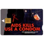 The Phonecard Shop: South Africa, Telkom - AIDS Kills, expiry date 2001/04, R20