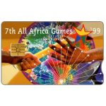 The Phonecard Shop: South Africa, Telkom - 7th All Africa Games '99, notched, R15
